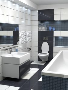 Bathroom, black&white color