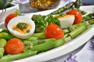 vegetables, eggs